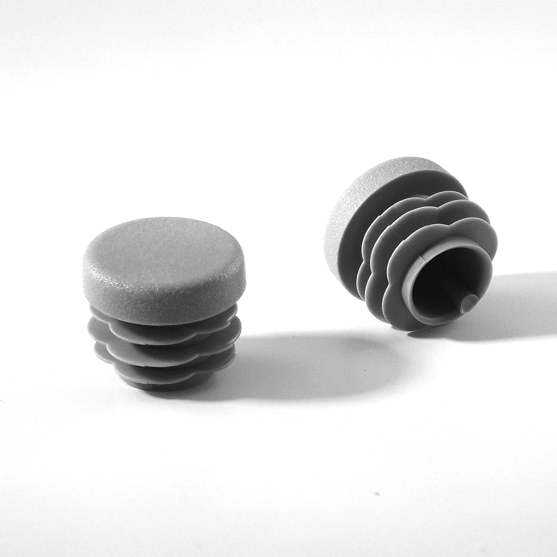 GRIS 24 piezas EPR313x24-FBA Ajile/® Contera plastic/ó redonda de interior para tubo esterior di/ámetro 13 mm