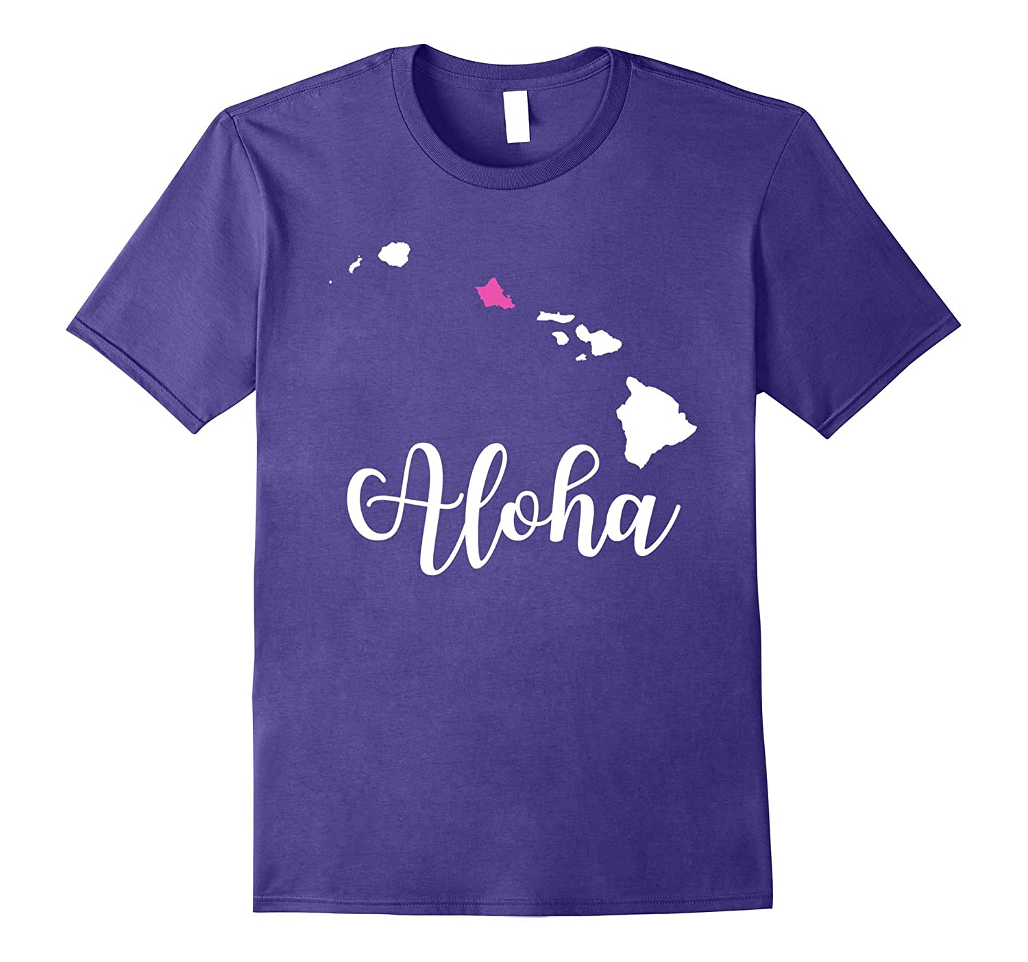 Aloha Oahu Hawaii Cute T Shirt for Women, Girls Apparel-T-Shirt