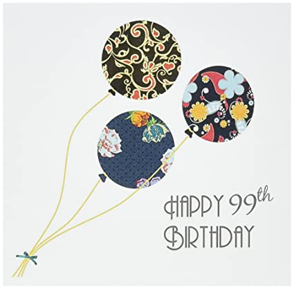 Amazon Happy 99th Birthday Modern Floral Balloons 99 Year Bday