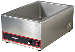 Winco Commercial Portable Steam Table Food Warmer 120V 1200W