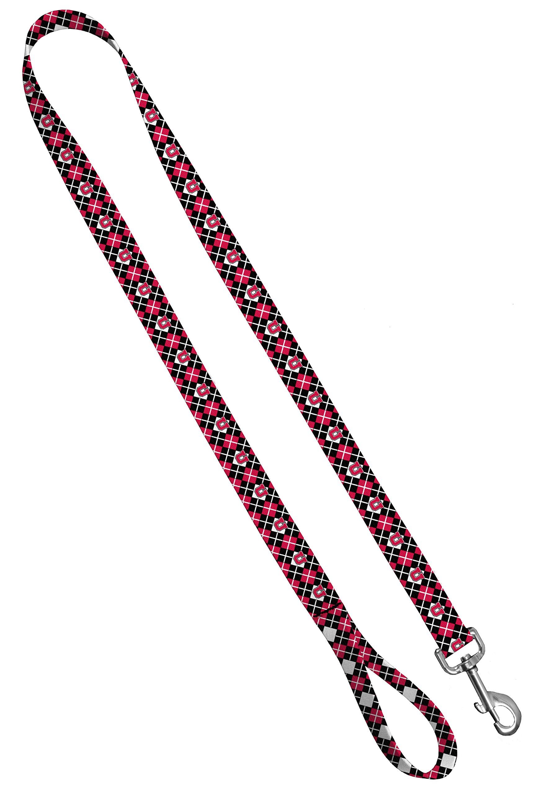 Moose Pet Wear Dog Leash – University Utah Utes Pet Leash, Made in the USA – 3/4 Inch Wide x 6 Feet Long, Argyle