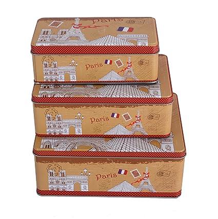 Lifestyle-You™ Novelty Multipurpose Tin Storage Boxes (Set of 3). Large  sc 1 st  Amazon.in & Lifestyle-You™ Novelty Multipurpose Tin Storage Boxes (Set of 3 ...