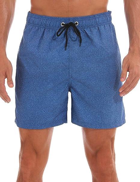 Amazon.com: MAKEIIT Traje de baño para hombre, pantalones ...
