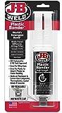 J-B Weld 50139 Plastic Bonder Body Panel Adhesive and Gap Filler Syringe - Dries Black - 25 ml