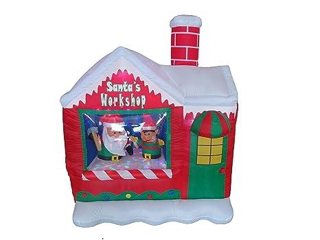 Amazon.com: 5 foot Navidad Elf de Papá Noel de Papá Noel ...
