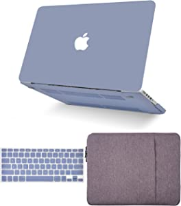 """KECC Laptop Case for MacBook Pro 13"""" (2020/2019/2018/2017/2016, with/Without Touch Bar) w/Keyboard Cover + Sleeve Plastic Hard Shell Case A2159/A1989/A1706/A1708 3 in 1 Bundle (Lavender Grey)"""