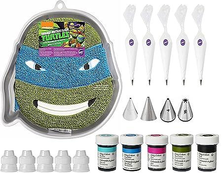 Teenage Mutant Ninja Turtle Cake Pan Bundle of 20 Items by ...