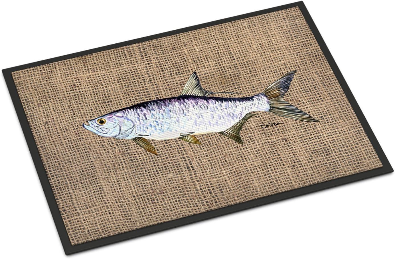 Caroline s Treasures 8774JMAT Fish – Tarpon Indoor or Outdoor Mat 24×36 Doormat, 24H X 36W, Multicolor