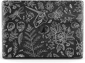 Mertak Hard Case for Apple MacBook Pro 16 Air 13 inch Mac 15 Retina 12 11 2020 2019 2018 2017 Flowers Touch Bar Unicorn Skull Cover Laptop Botanical Design Skeleton Print Vintage Plastic Protective