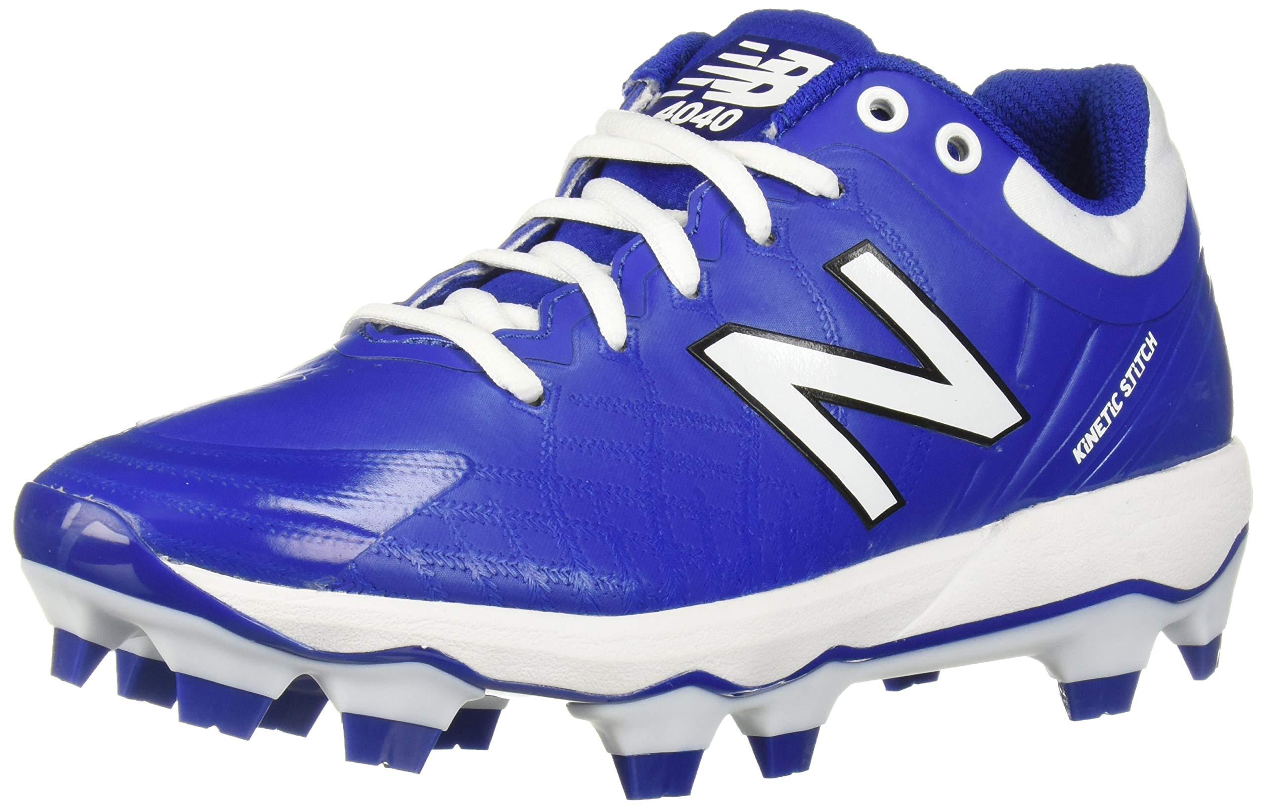 New Balance Men's 4040v5 Molded Baseball Shoe, Royal/White, 5 M by New Balance
