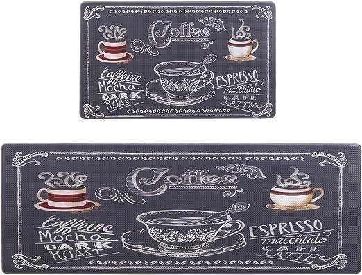 "ANTI-FATIGUE NON SLIP FLOOR MAT 2 COFFEE CUPS by Master Chef PVC 18/"" x 30/"""