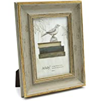 Afuly Antique Picture Frame 4x6 Vintage Gold and Green Photo Frames for Desk Wall Portrait Landscape Display Distressed…