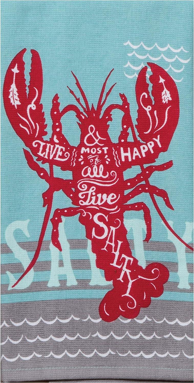 Kay Dee Designs Live Salty Lobster DP Dish Towel, 16 x 26, Various