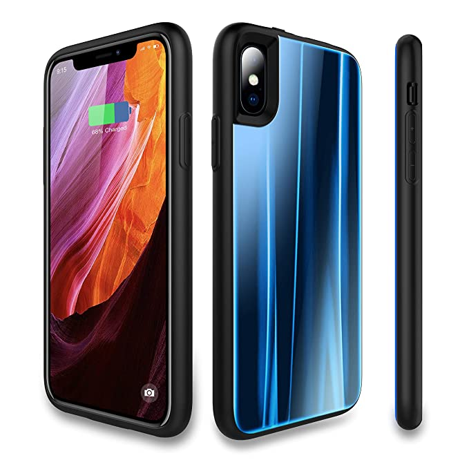 timeless design 95fc3 5312d Bormmie Battery Case for iPhone X,3600mAh Portable Protective Charging Case  Slim,Extended Rechargeable Battery Pack Charger Case, Compatible with ...