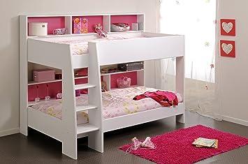 Etagenbett Weiß Für Kinder : Kinder etagenbett weiß rückwand pink amazon küche