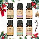 Skymore Top 6 Reine Ätherische Öle Set, 100% Pure Aroma Öle, 6 Effekts Namen(Refresh, Sleep, Immunity, Relaxation, Decompression, Breathe), für Aromatherapie/Diffuser/Lufterfrischer Geeignet, 6x10ml