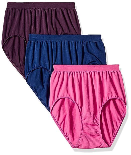 59d97dd6799c0 Bali Womens Standard Comfort Revolution Brief Panty 3-Pack  Amazon ...