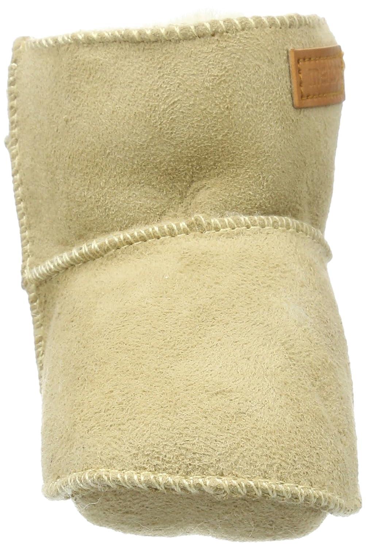Melton Unisex Baby Lammswollsch/ühchen mit Klettverschluss Krabbelschuhe