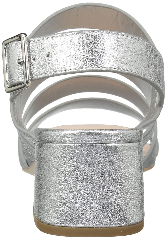 Loeffler Sandal Randall Women's Mavis (Crinkle Metallic) Heeled Sandal Loeffler B074JMVFMB 7 B(M) US Silver 540937