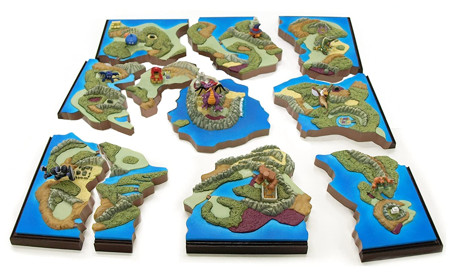 Dragon Quest 25th anniversary Map Diorama Collection 9 pieces