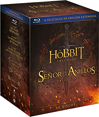 Pack Tierra Media Blu-Ray [Blu-ray]: Amazon.es: El Hobbit: Martin ...