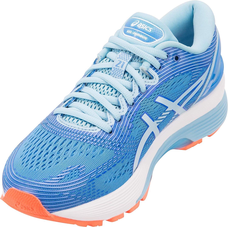ASICS Gel Nimbus 21 Damen Laufschuh, Blau (Blue Coast