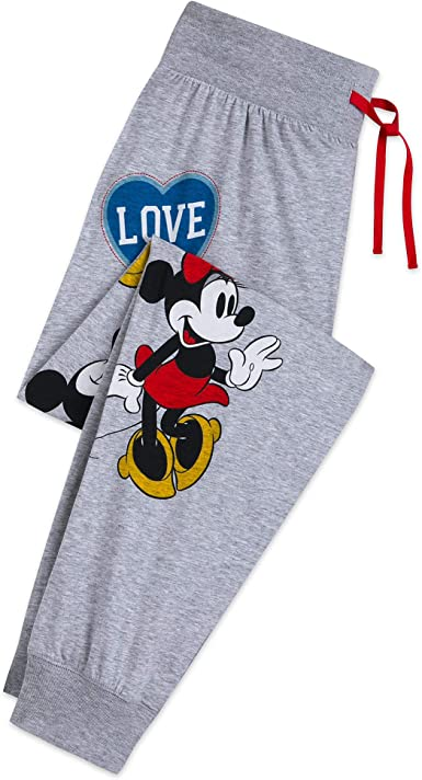 Amazon Com Disney Mickey And Minnie Mouse Pantalones Para Mujer Mujer 2xl Clothing