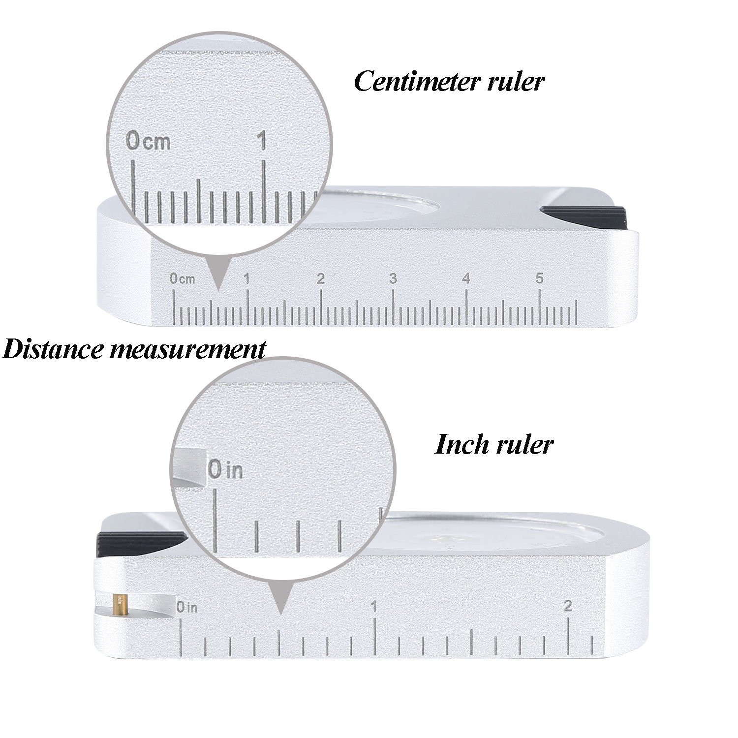Ueasy Professional Aluminum Accurate Altimeter Compact Handheld Clinometer for Measuring Heights Slopes Angles Silver by Ueasy (Image #2)
