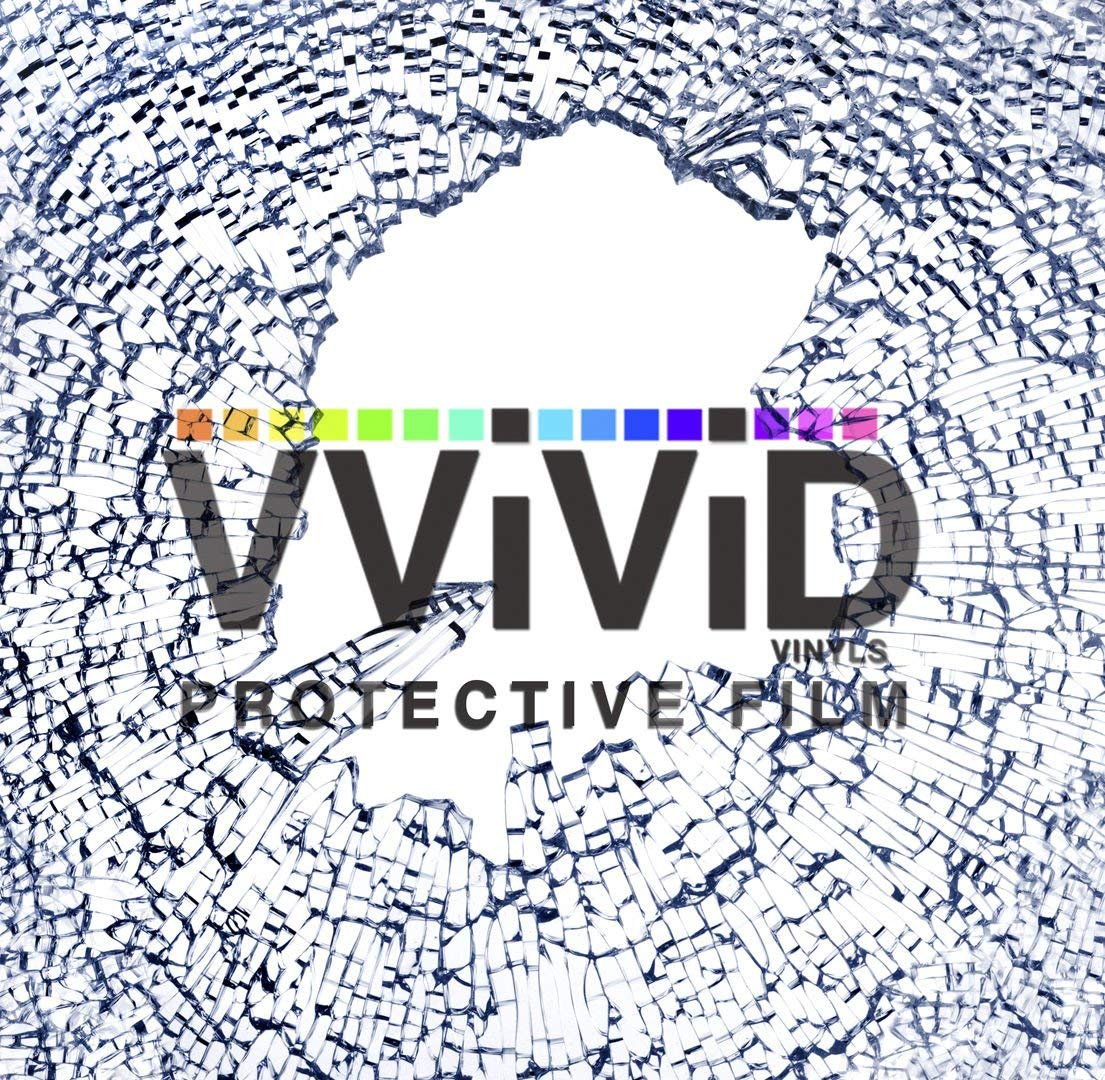 VViViD 4 Mil Clear Safety Window Film 30'' Wide (Extra Large ROLL - 30'' x 75ft)