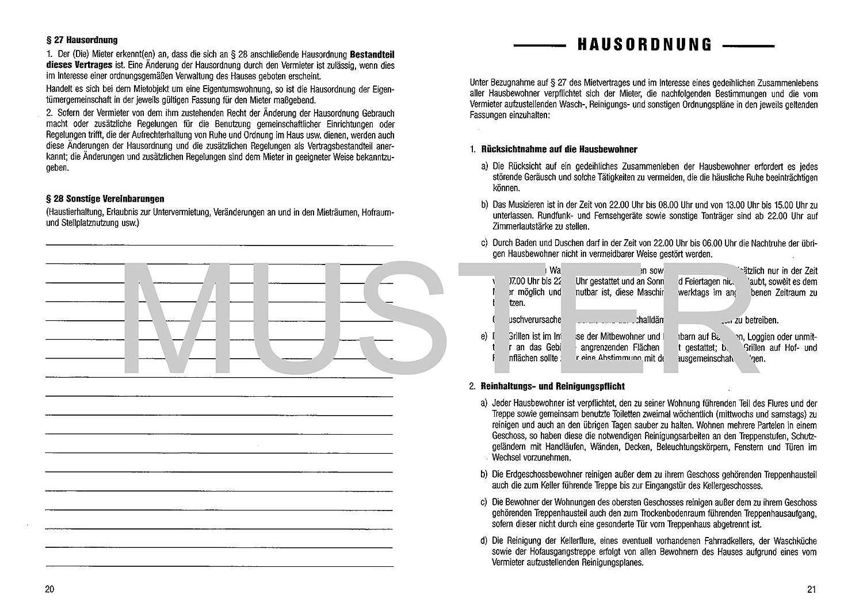 5 X Standard Mietvertrag Din A5 Amazonde Bürobedarf Schreibwaren