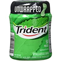 Trident Trident Unwrapped Spearmint Bottle, 50 Count, 6 Count