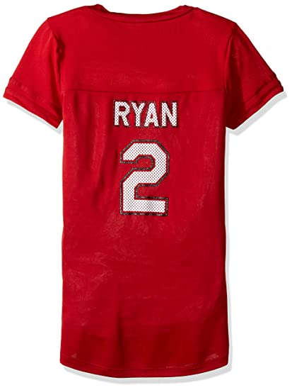 d7d2b3659 NFL Atlanta Falcons Matt Ryan 2 Women s Short Sleeve V-Neck Synthetic Lace  Up Fashion
