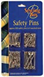 Assorted Safety Pins Small Medium Large Chrome Silver Metal