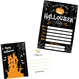 50 Black Halloween Pumpkin Invitations Kids Or Adults Birthday Party Invites Monster Trunk