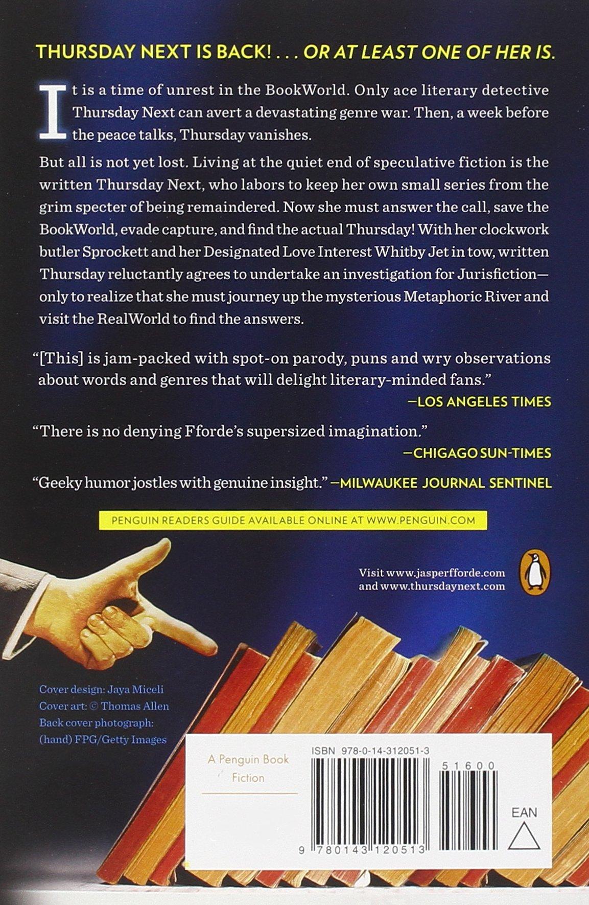 One Of Our Thursdays Is Missing: A Thursday Next Novel: Jasper Fforde:  9780143120513: Amazon: Books