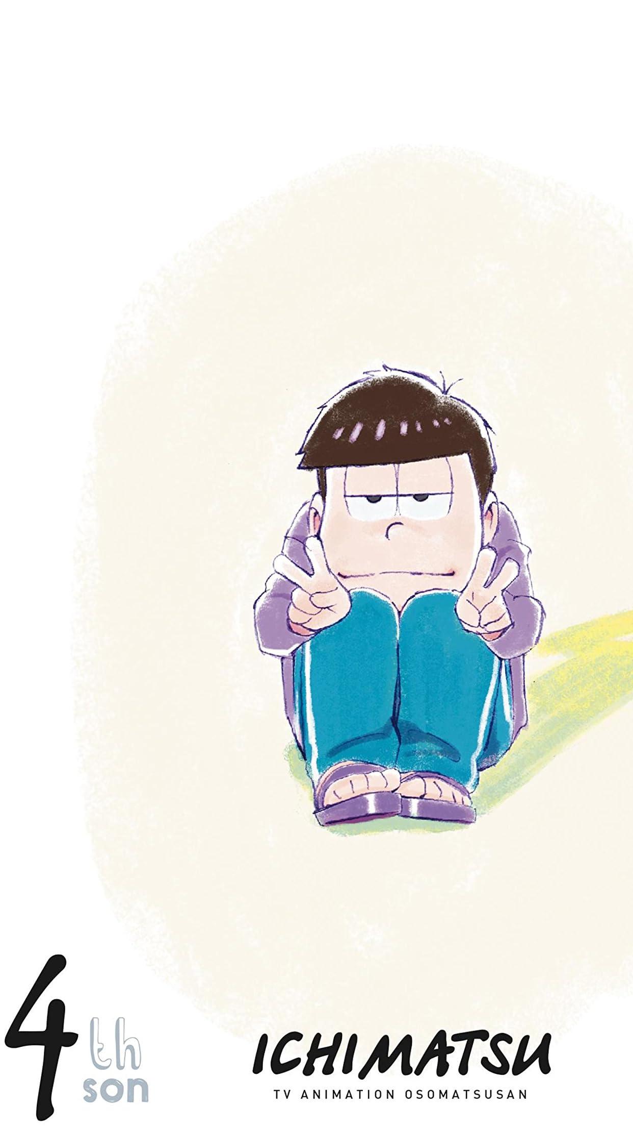 おそ松さん Iphone8 7 6 Plus 壁紙 1242 2208 松セレクション 四男