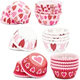 Valentine's Day Cupcake Liners (3 Designs, 450 Pack)