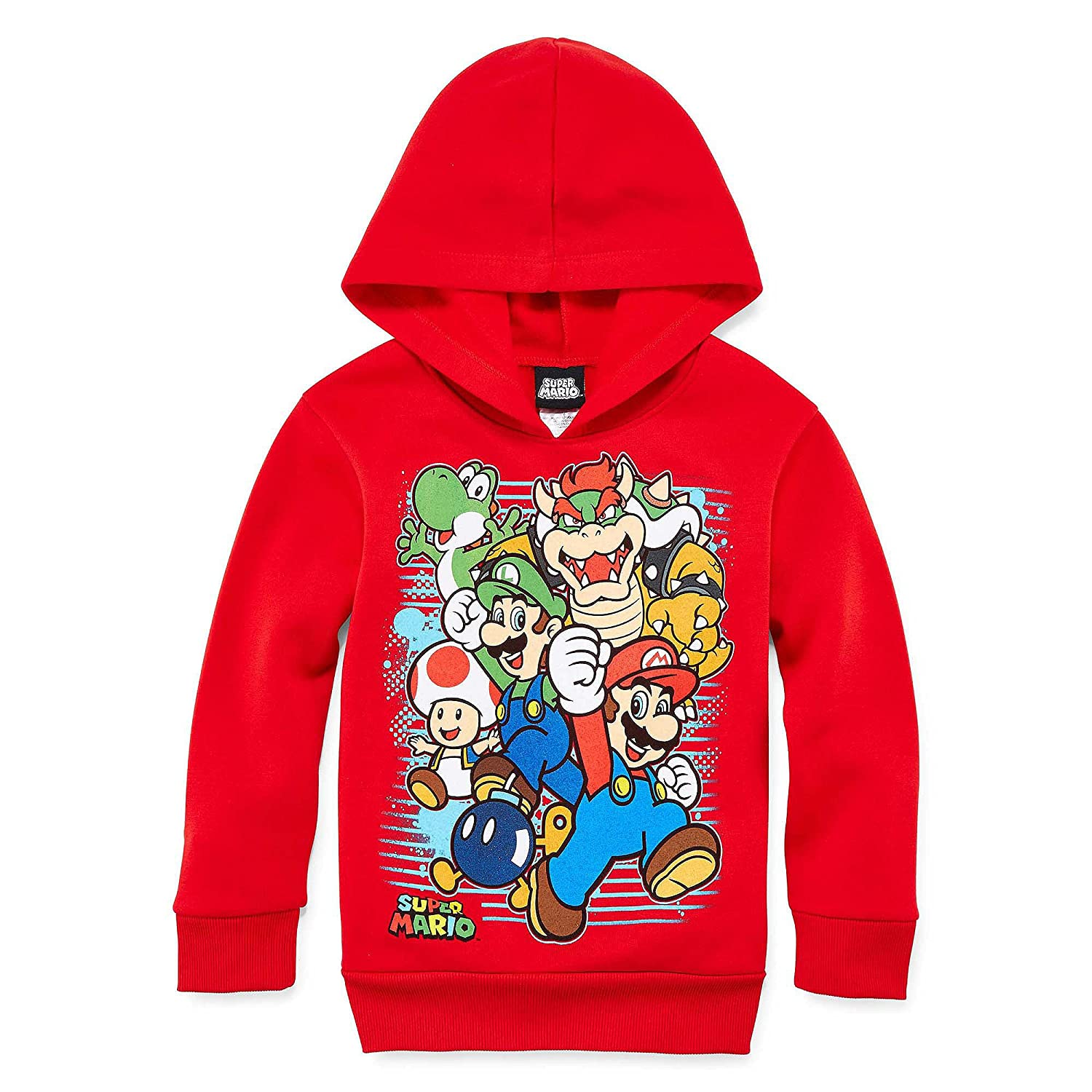 Super Mario Brothers Preschool Pullover Hoodie, Small (size 4)