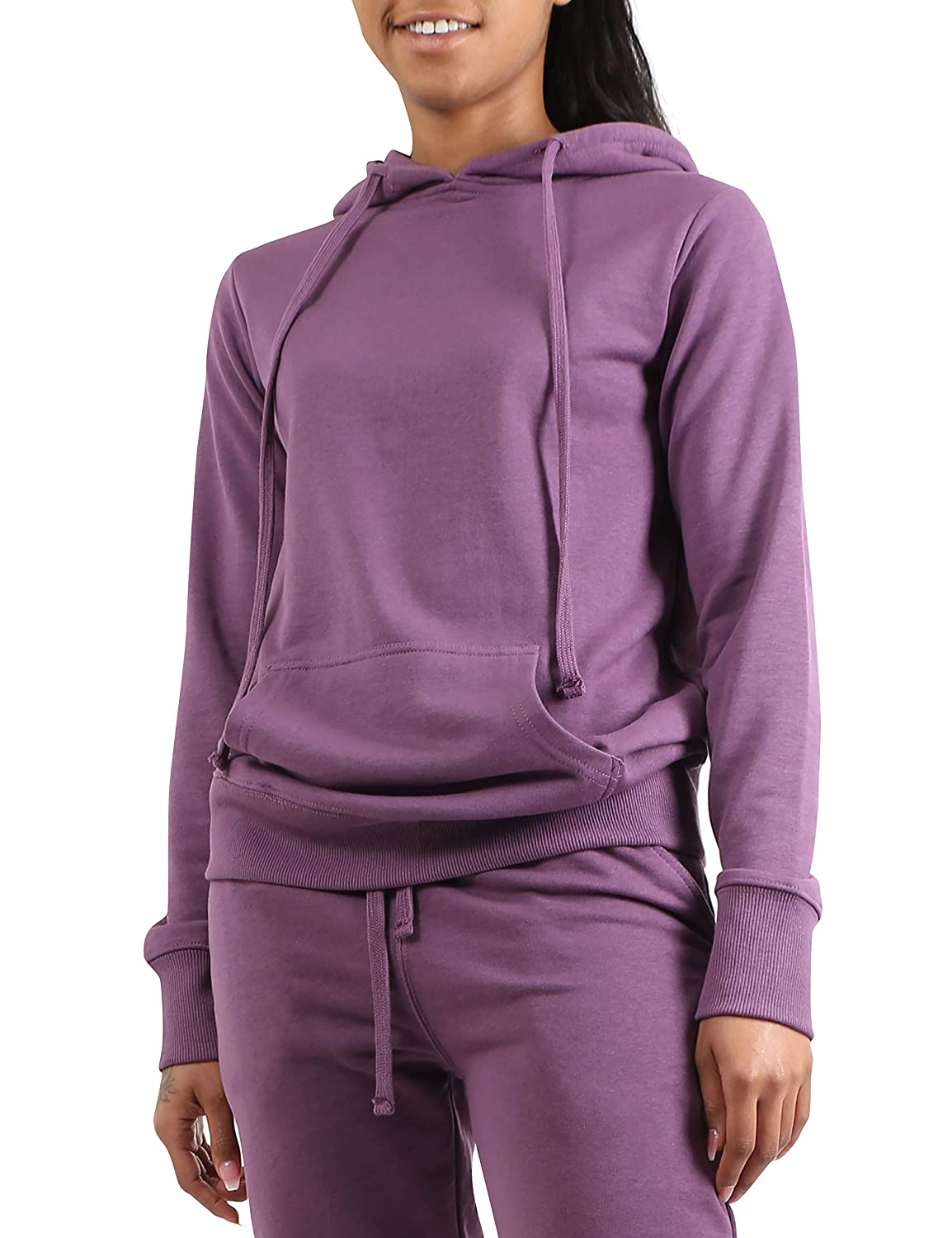 Ma Croix Womens Active Pullover Hoodie Sweatshirt Casual Workout Lounge S-2XL