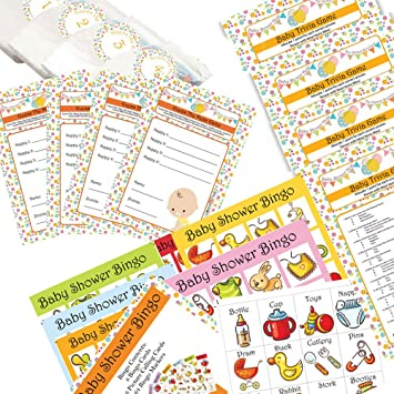 Baby Shower Games Pack 3 Games Including Bingo Dirty Nappy Game And