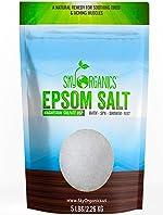 Epsom Salt by Sky Organics (5 lbs.) - 100% Pure Magnesium