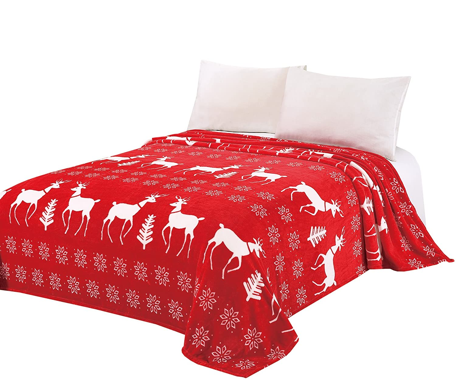 Amazon.com: BOON Light Weight Christmas Collection Printed Flannel ...