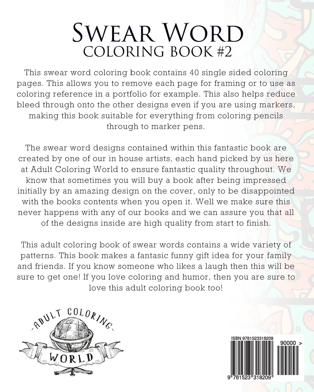 Coloring pages for adults curse words - Amazon Com Swear Word Coloring Book 2 An Adult Coloring Book Of 40 Hilarious Rude And Funny Swearing And Cursing Designs Coloring Book Funny Gift