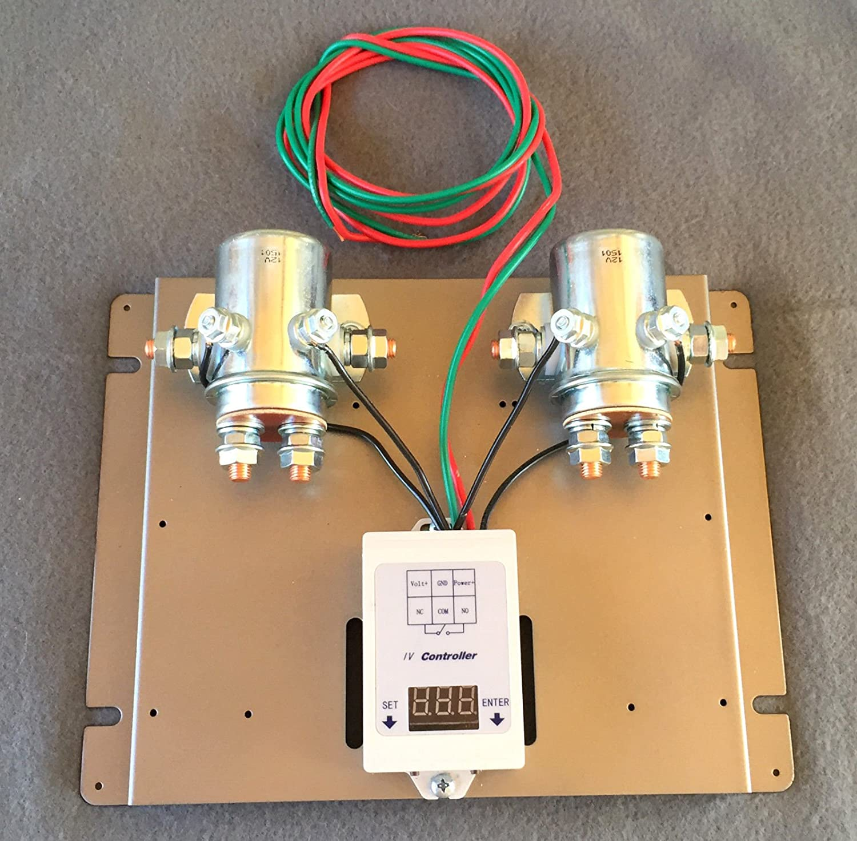 amazoncom dual 880 amp digital charge controller 12 volt dc 4 wind