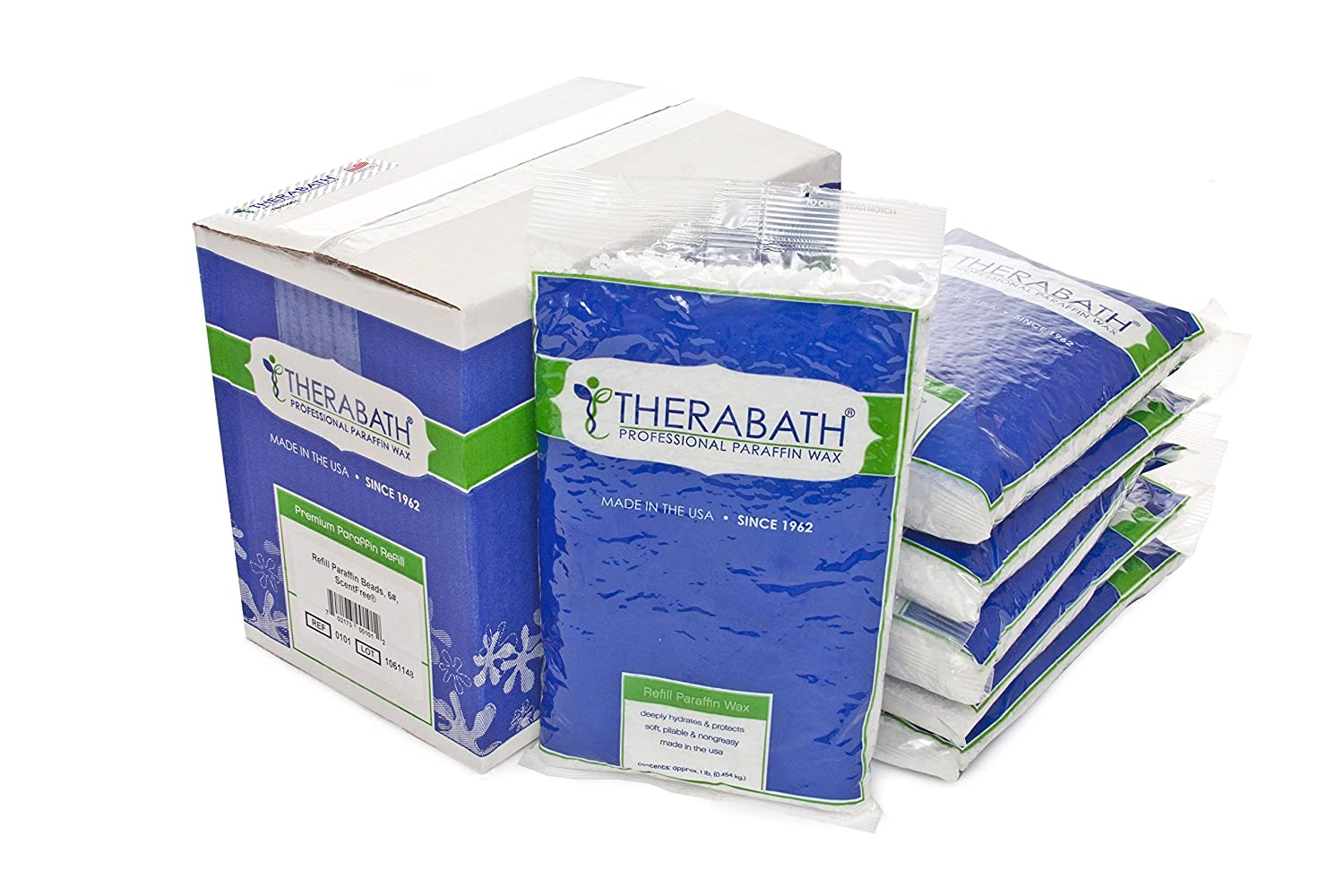 Therabath Paraffin Wax Refill - Use To Relieve Arthitis Pain and Stiff Muscles - Deeply Hydrates and Protects - 6 lbs (PeachE) 0102
