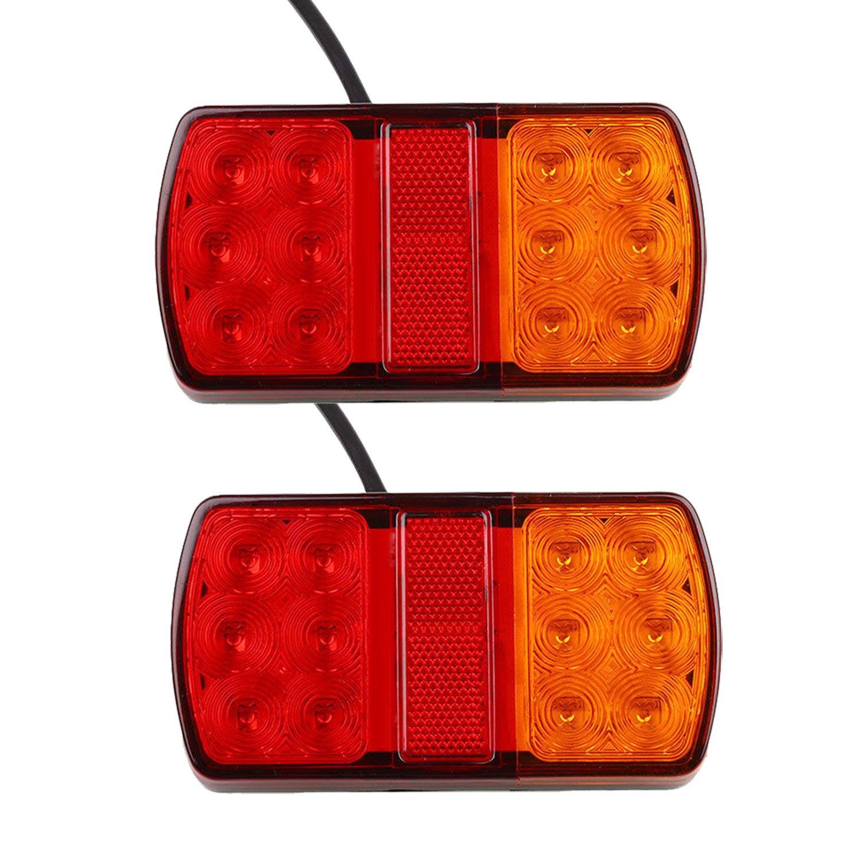 Luces traseras LED, syyl 2 piezas 12 V 12 LED faros traseros Luces posició n LED bombillas indicadores de aparcamiento para vehí culos Remolque autocaravanas camiones Tractor Camió n Jajadeal