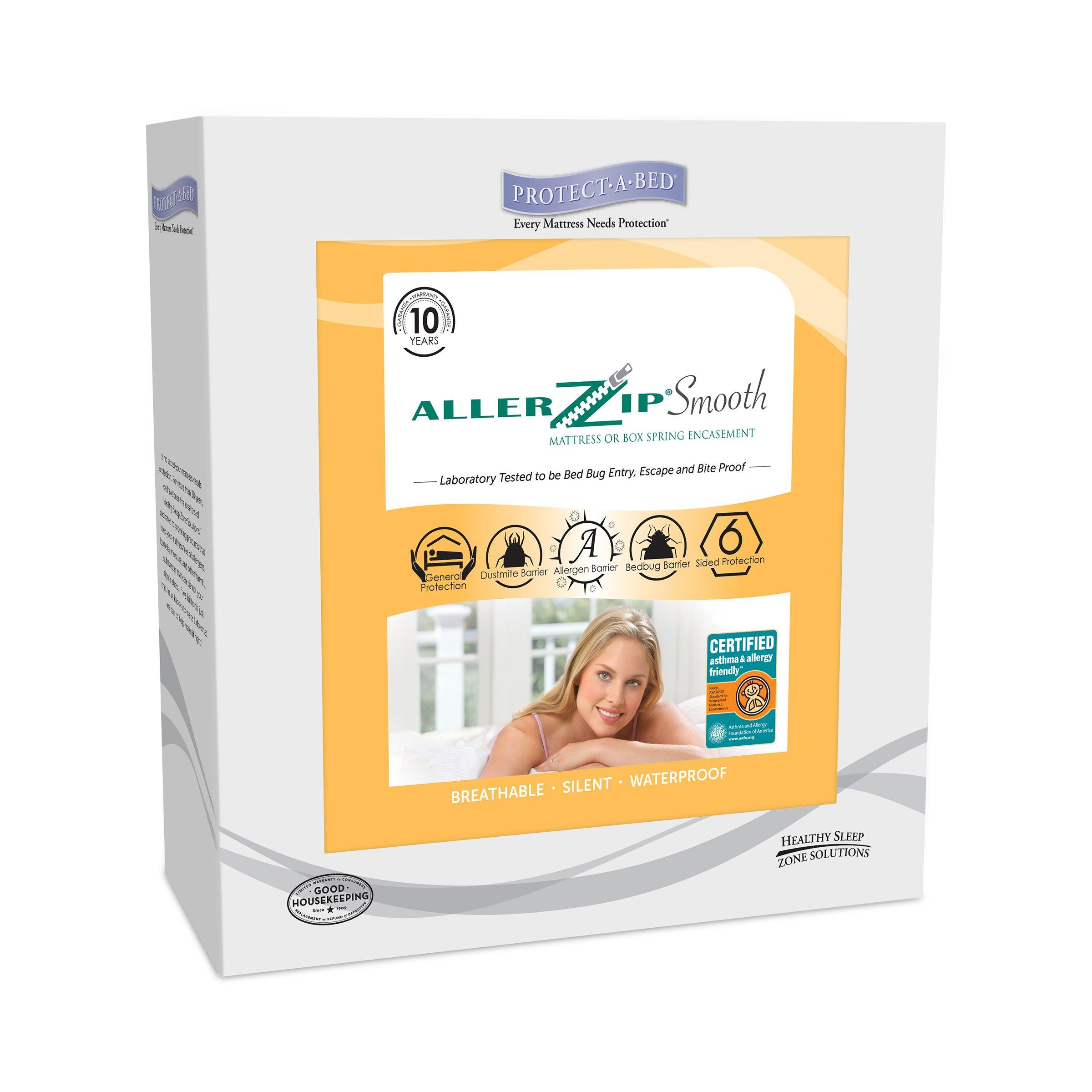 Protect-A-Bed Allerzip Smooth Twin Mattress Encasement, XL 6-Inch
