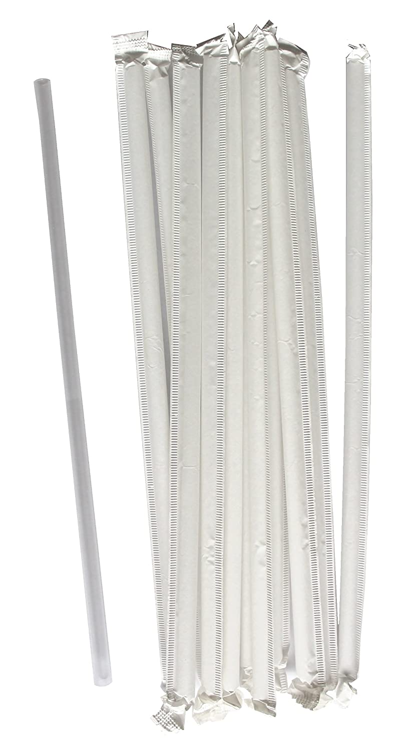 Daxwell 8.25 x 5.6mm Straw, Paper Wrapped, Clear (Box of 500) C10003285B