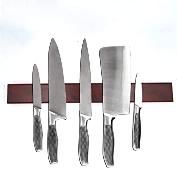 seatrend potente soporte magnético para cuchillos de madera ...