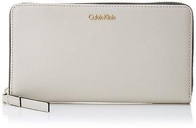 Calvin Klein Frame Large Ziparound Xl, Portefeuilles femme, (Black), 2x11x20 cm (B x H T)